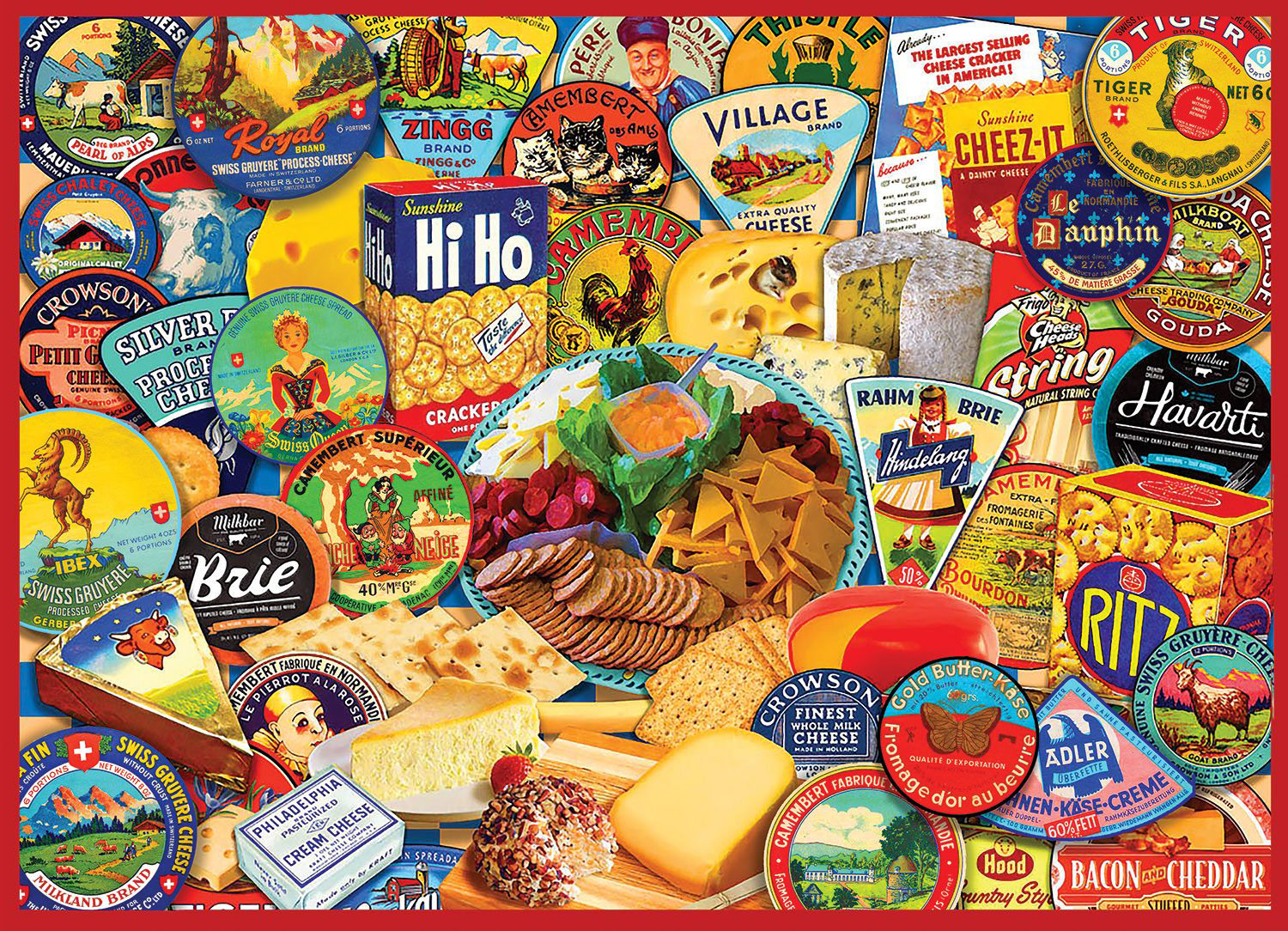 Cheese & Crackers Food and Drink Jigsaw Puzzle
