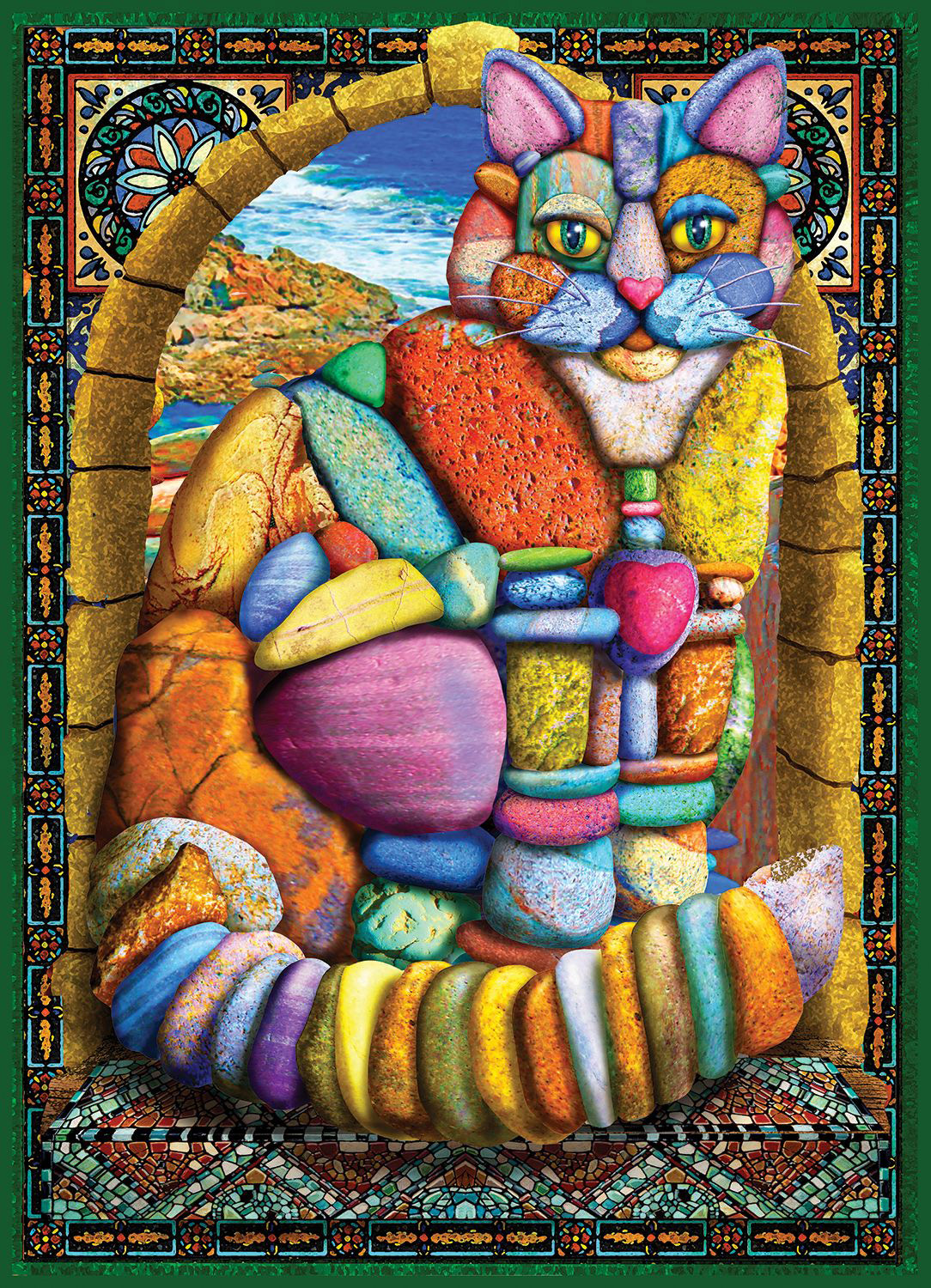 Cairn Stone Cat Cats Jigsaw Puzzle
