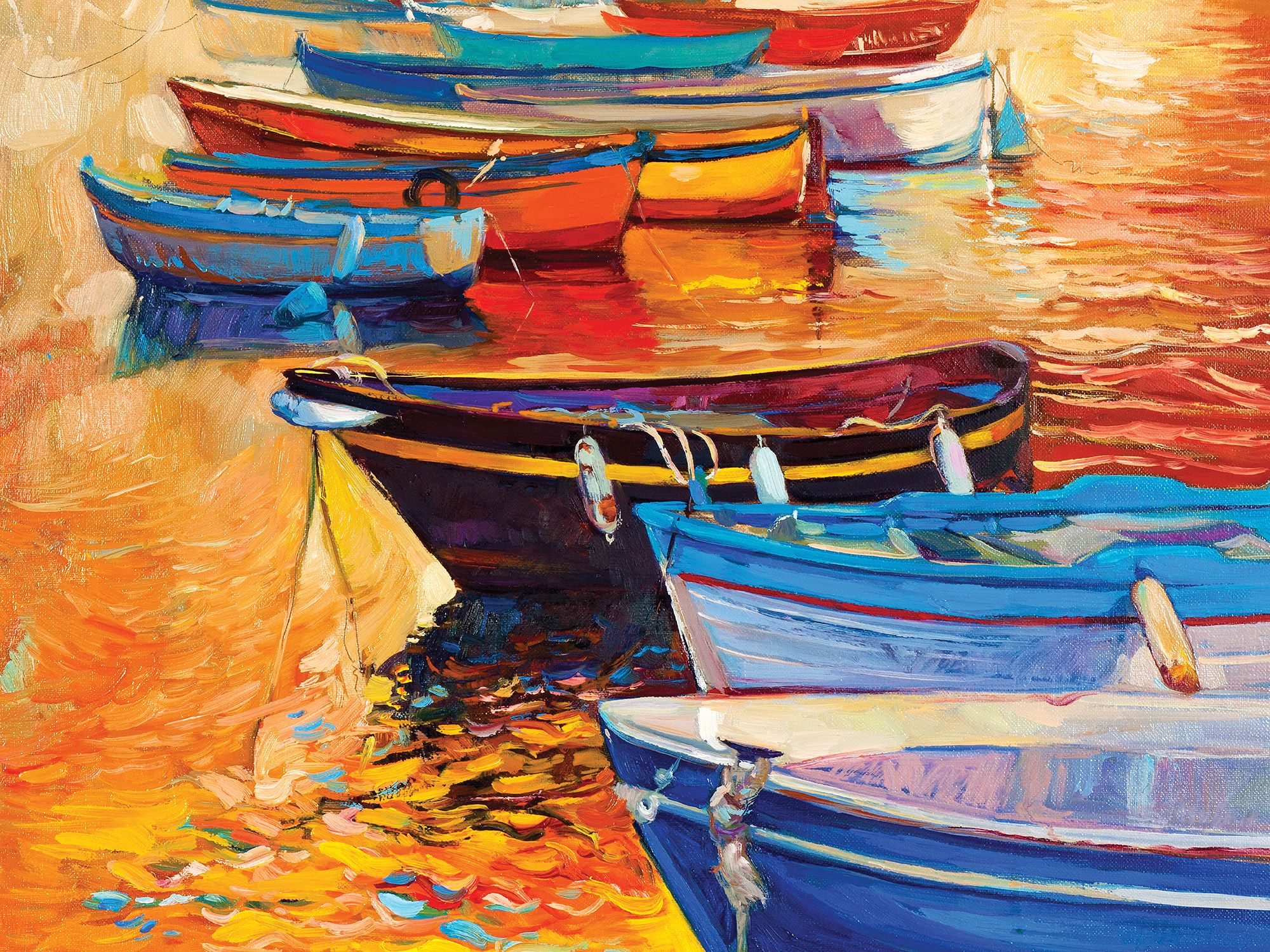 Boats in a Row Boats Jigsaw Puzzle