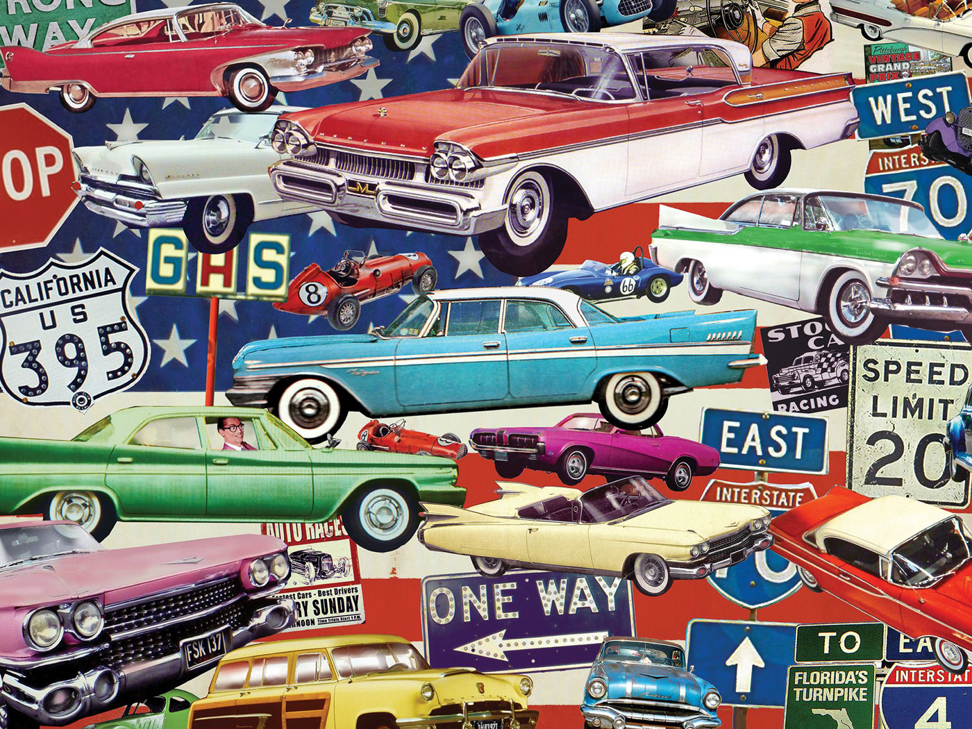 Classic Rides Cars Jigsaw Puzzle