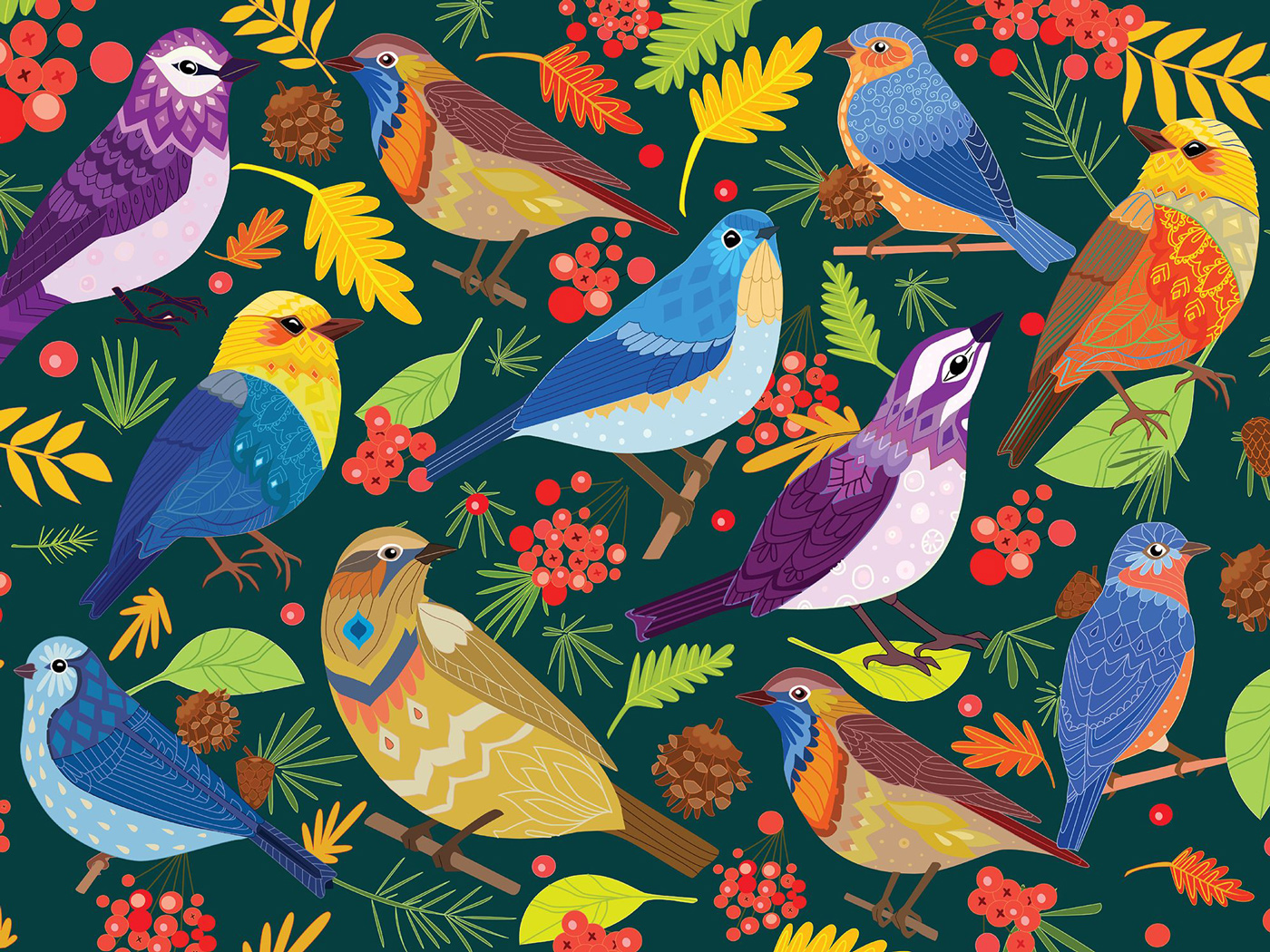 Feathered Friends Birds Jigsaw Puzzle