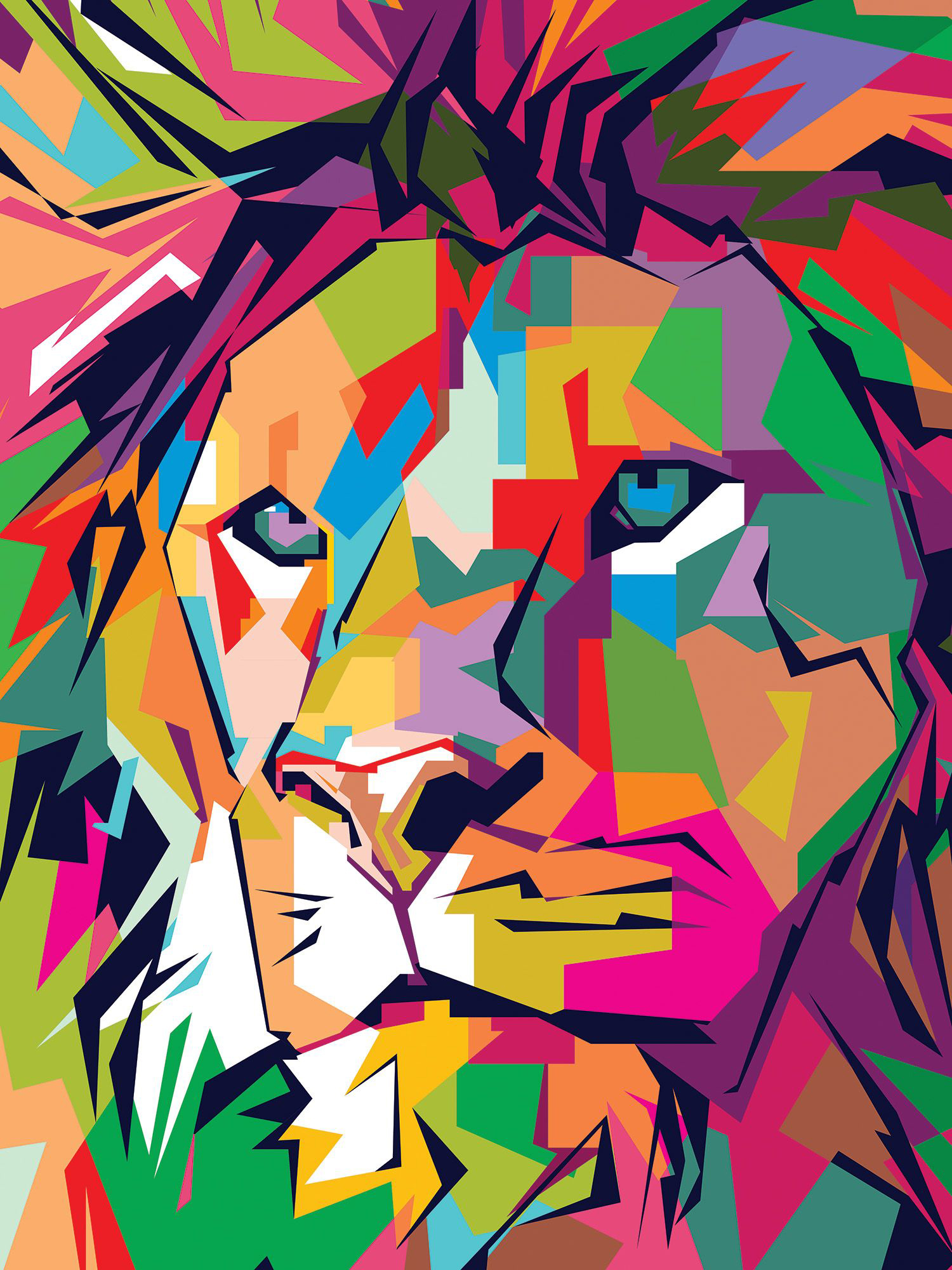 Funky Lion Animals Jigsaw Puzzle