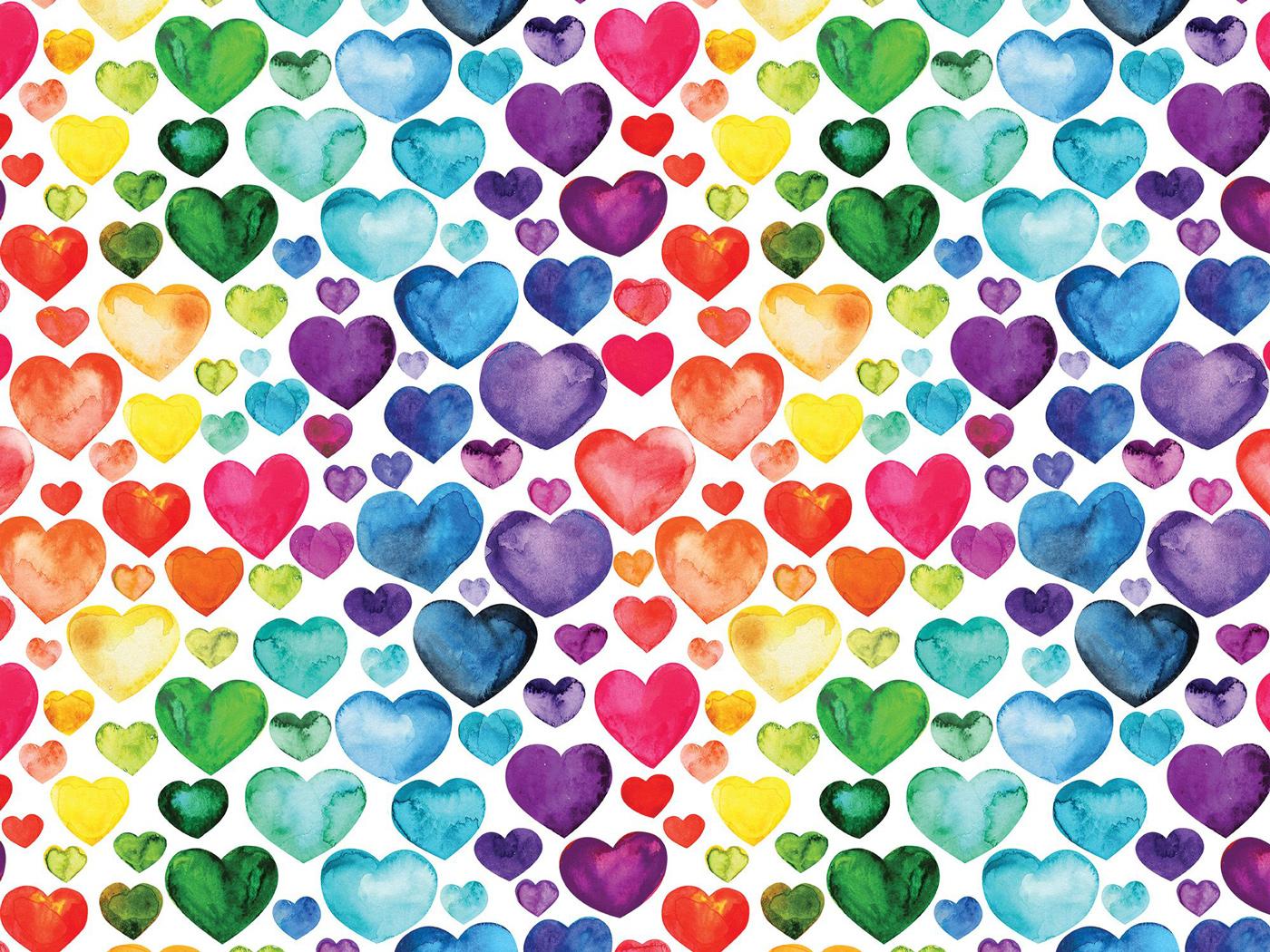 Rainbow Hearts Graphics / Illustration Jigsaw Puzzle