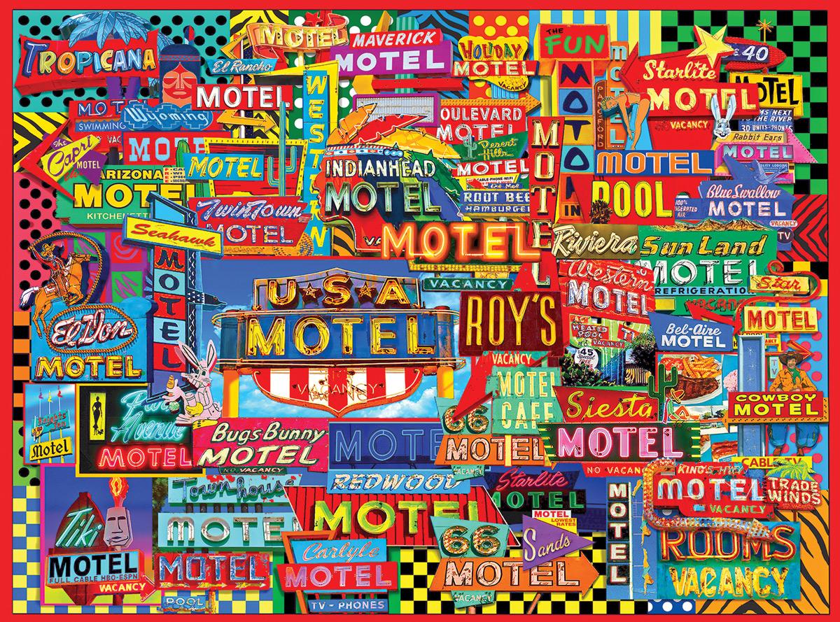 Motel Road Trip Travel Jigsaw Puzzle