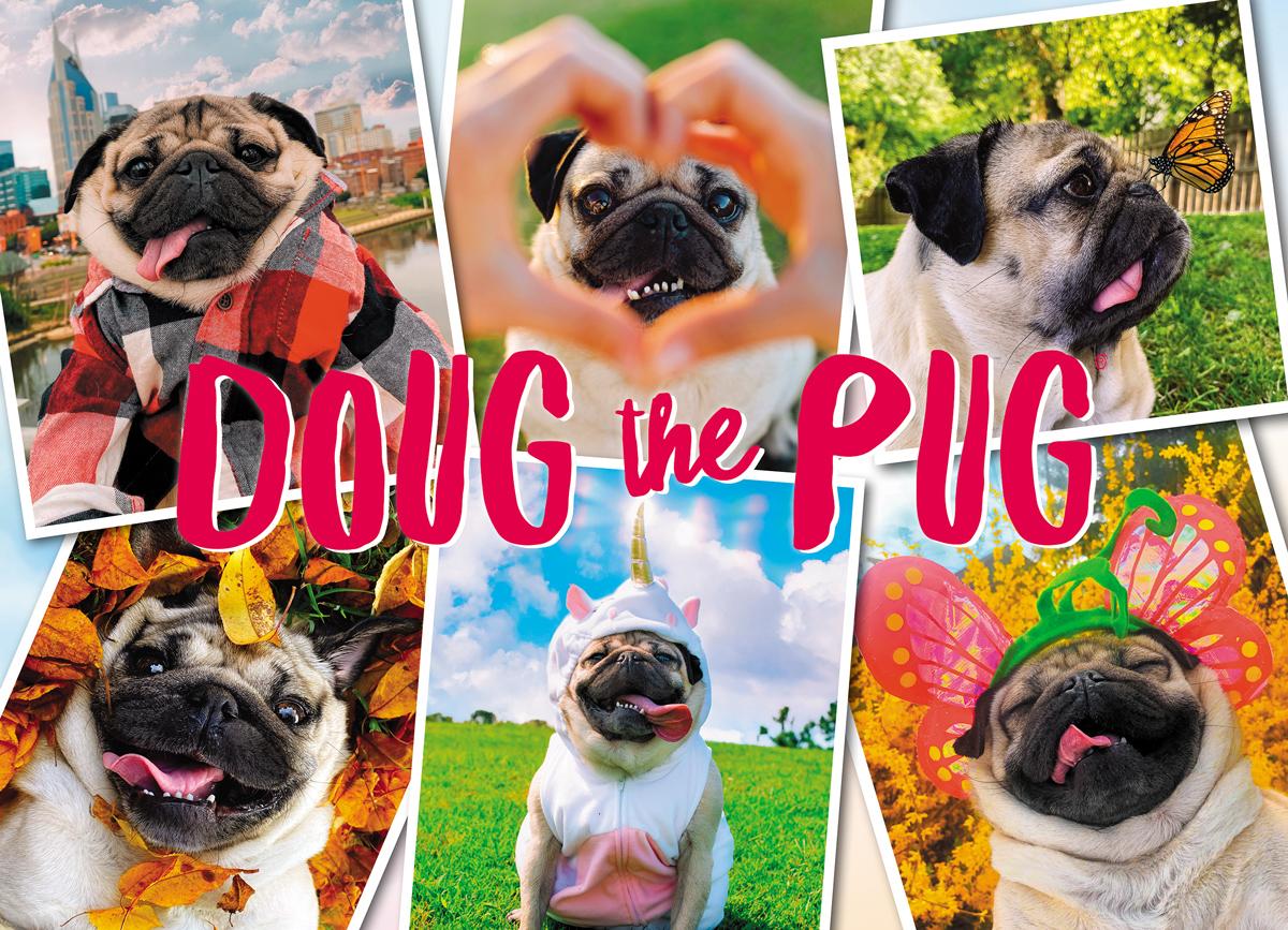 Doug the Pug: Pugs & Kisses Dogs Jigsaw Puzzle