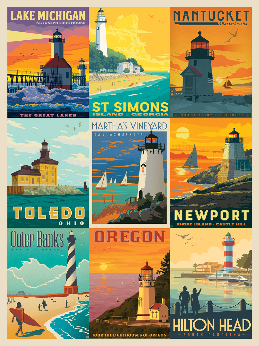 Lighthouses Lighthouses Jigsaw Puzzle