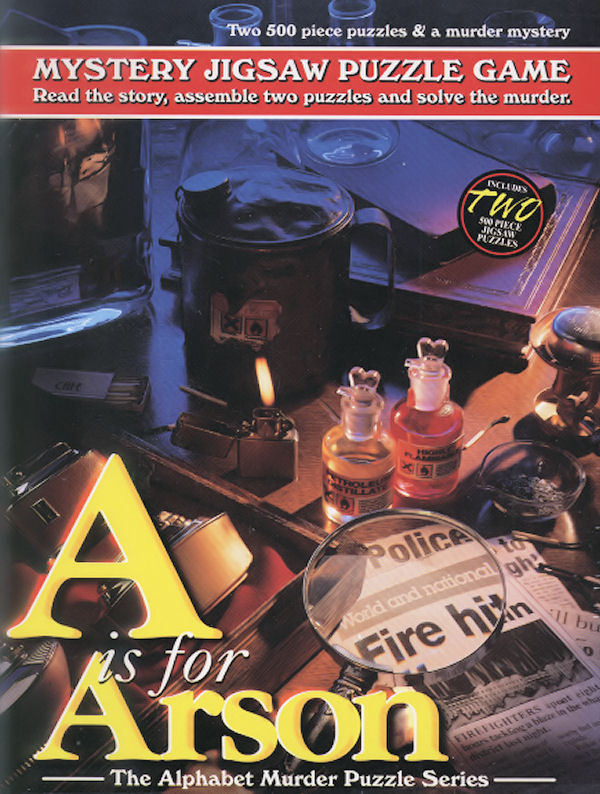Mystery Puzzle - A is for Arson Murder Mystery Jigsaw Puzzle