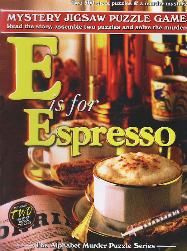 Mystery Puzzle - E is for Espresso Mystery Jigsaw Puzzle