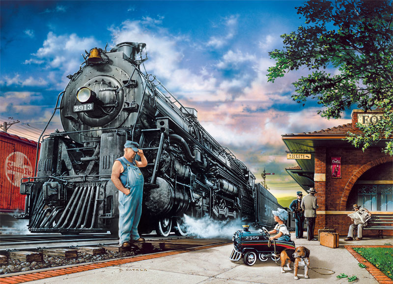 Childhood Dreams - Whistlestop Trains Jigsaw Puzzle