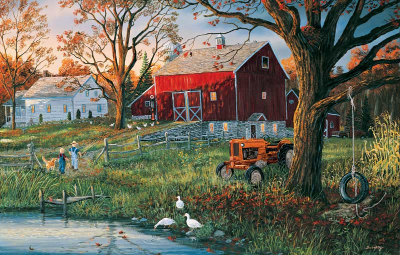 Good Ol' Days at the Pond Farm Jigsaw Puzzle