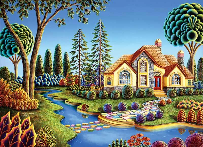 Wonderland - Stepping Stone Creek Contemporary & Modern Art Jigsaw Puzzle