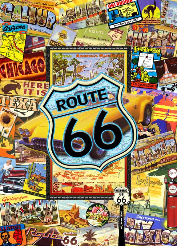 Travel America Route 66 Suitcase Jigsaw Puzzle