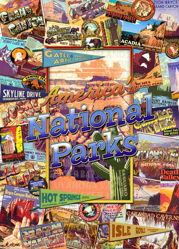 National Parks (Travel America) - Scratch and Dent Landmarks / Monuments Jigsaw Puzzle