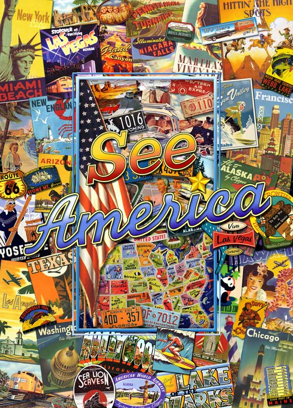 Travel America - See America Landmarks Collectible Packaging