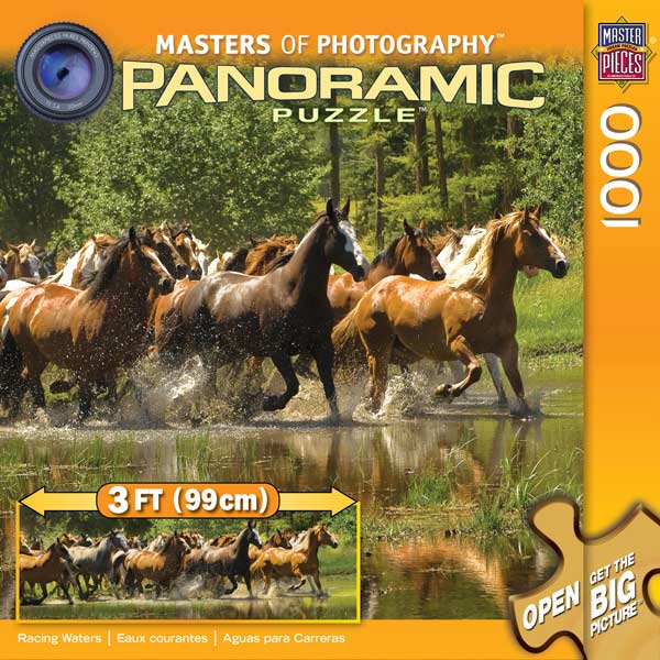 Racing Waters Horses Jigsaw Puzzle