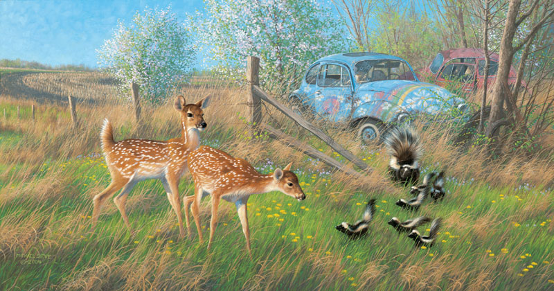 Flower Children Cars Jigsaw Puzzle