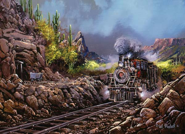 Railways - Steaming Through Rio Verde Canyon Trains Jigsaw Puzzle