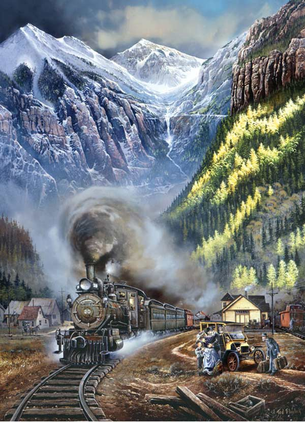 Railways - Telluride Homecome Trains Jigsaw Puzzle