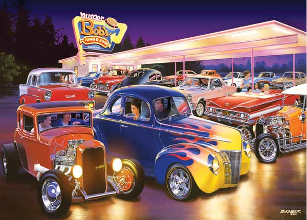 Cruisin' - Burger Bob's Americana Jigsaw Puzzle