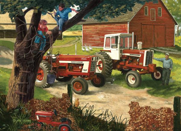 Boys and their Toys Farm Jigsaw Puzzle
