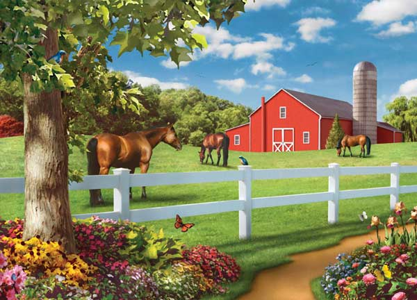 Farm Country - Pastures of Chance Farm Jigsaw Puzzle