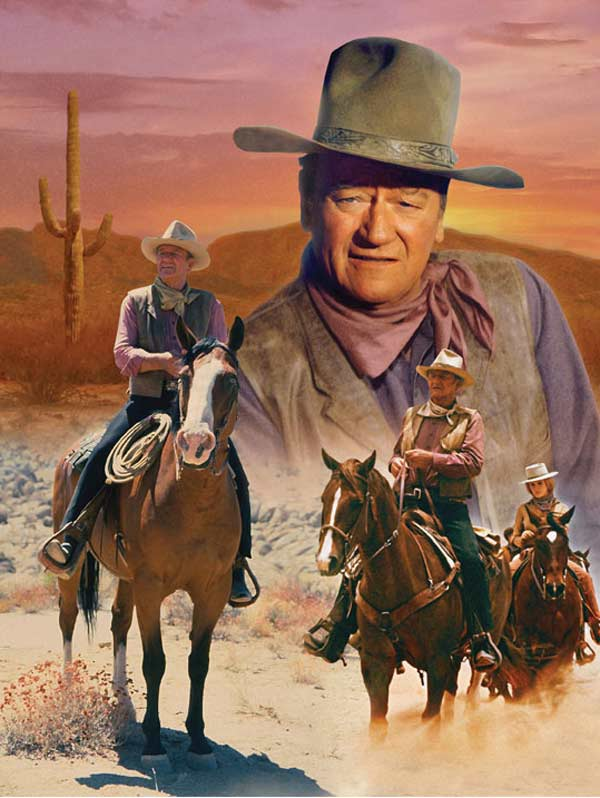 John Wayne - The Cowboy Way Horses Jigsaw Puzzle