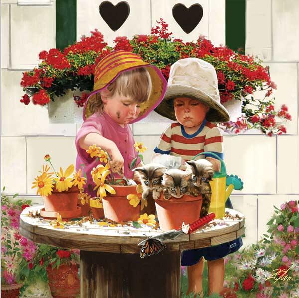Joys of Childhood - Little Potters Garden Jigsaw Puzzle