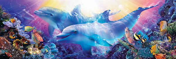 Believe the Dream Dolphins Jigsaw Puzzle