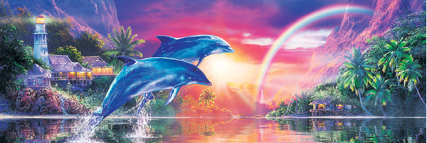 Earthly Paradise Dolphins Jigsaw Puzzle