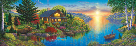 A Summer Haven Countryside Jigsaw Puzzle