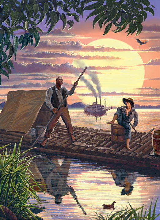 Classic Books - Huck Finn Movies / Books / TV Collectible Packaging