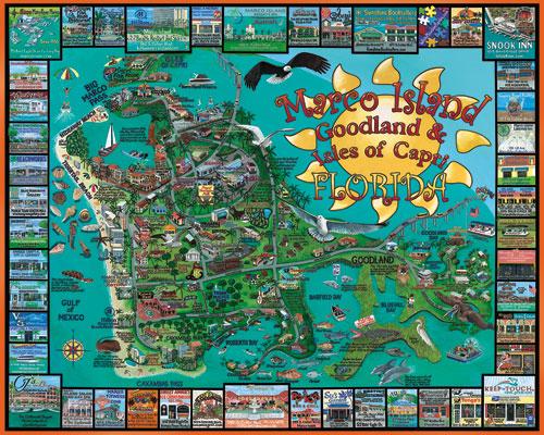 Map Of Marco Island Florida.Marco Island Fl Scratch Dent Jigsaw Puzzle Puzzlewarehouse Com