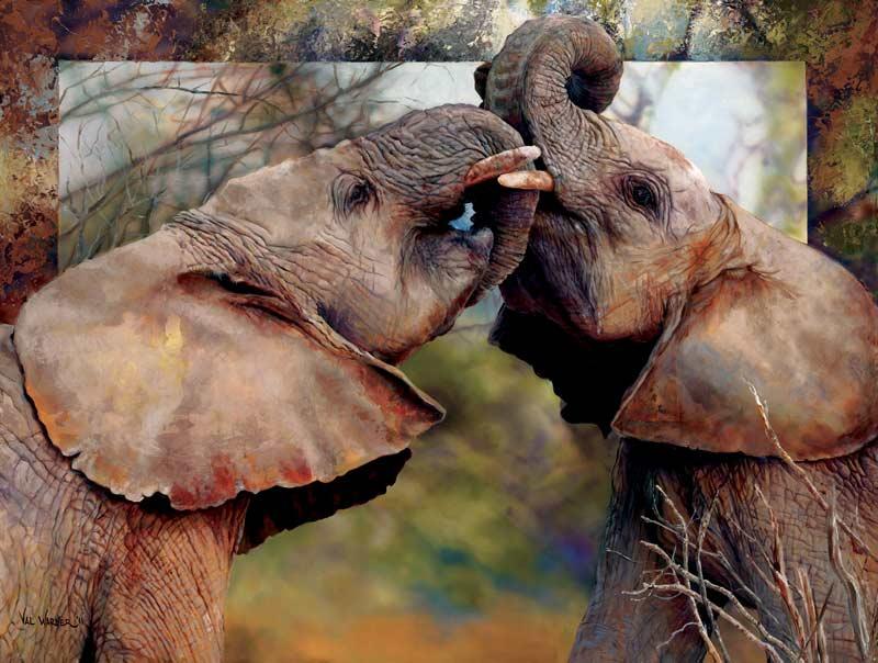 Smoochin' Eles Jungle Animals Jigsaw Puzzle