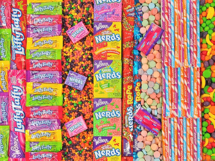 Candy Brands - Wonka Candies Food and Drink Jigsaw Puzzle