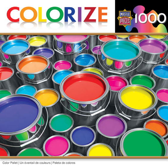Colorize! - Color Pallet Everyday Objects Jigsaw Puzzle