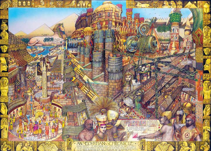 Buried Blueprints - Egyptian Chronicles Egypt Jigsaw Puzzle