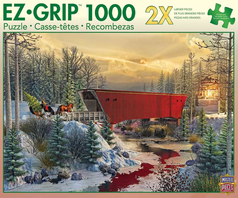 Crossing Cedar Creek Bridges Jigsaw Puzzle