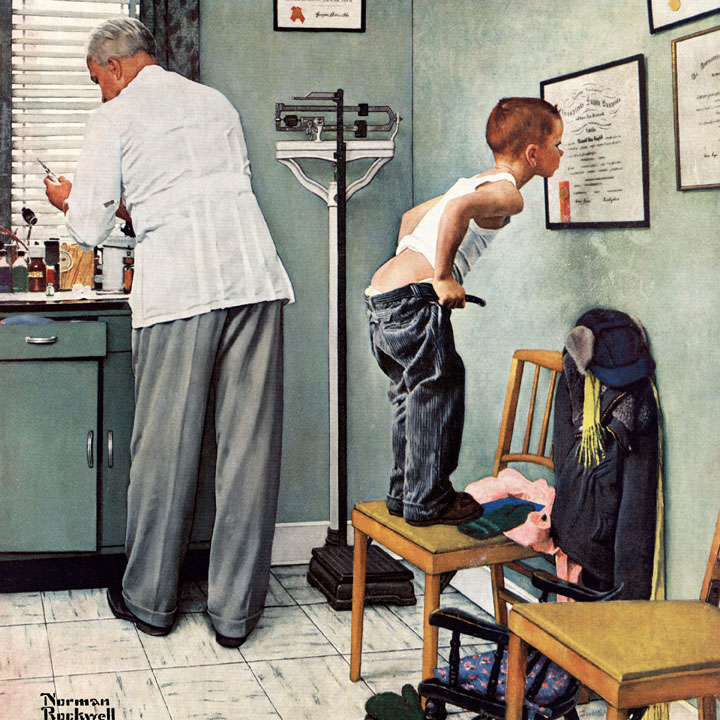 At the Doctor's (Saturday Evening Post) People Jigsaw Puzzle