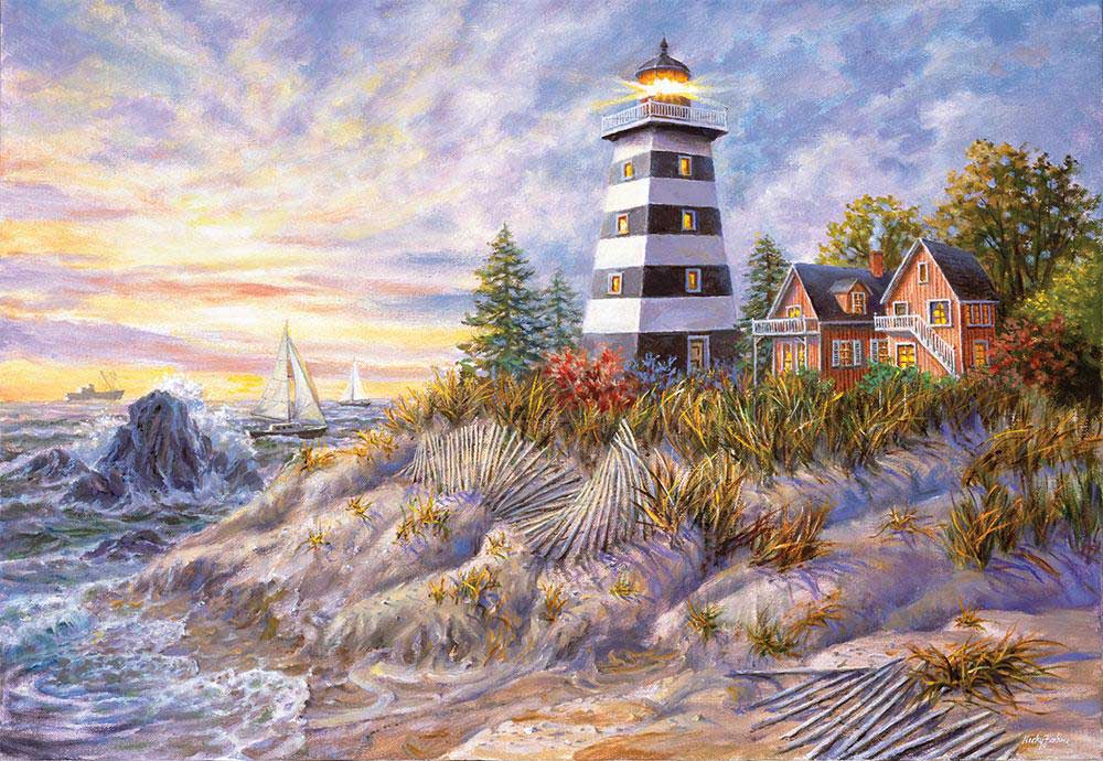 Out of Harm's Way Beach Jigsaw Puzzle