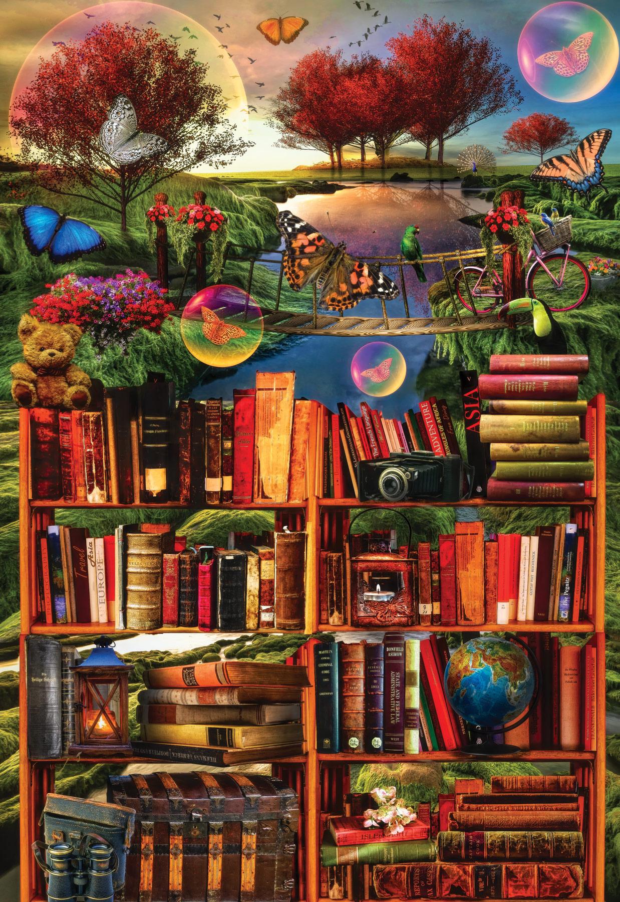 Imagination Through Reading Fantasy Jigsaw Puzzle