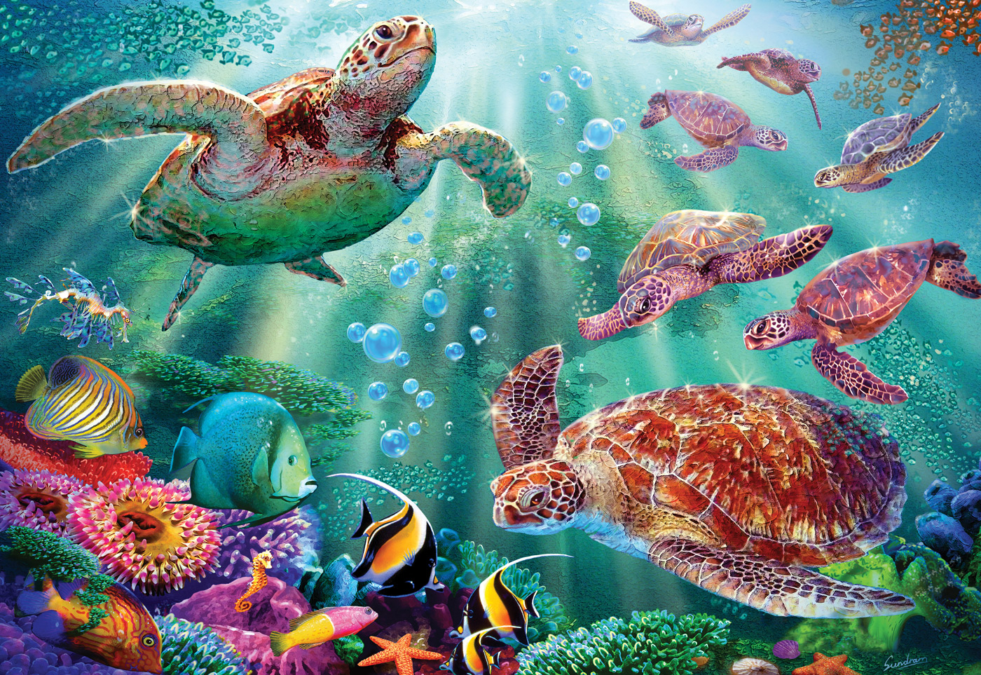 Turtle Voyage Under The Sea Jigsaw Puzzle