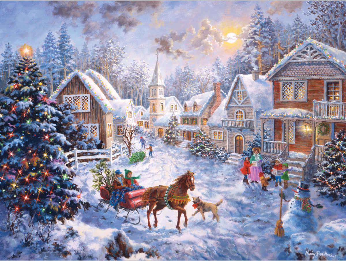 Christmas Sleigh Ride Christmas Jigsaw Puzzle