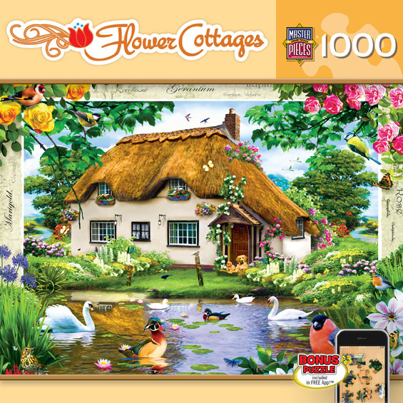 Swan Cottage Birds Jigsaw Puzzle