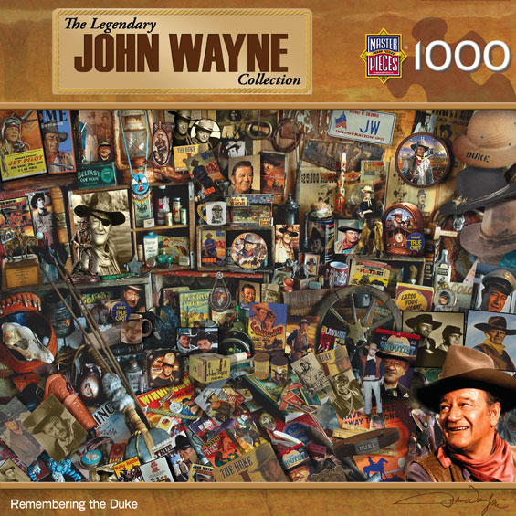 John Wayne - Remembering the Duke - Scratch and Dent Famous People Jigsaw Puzzle