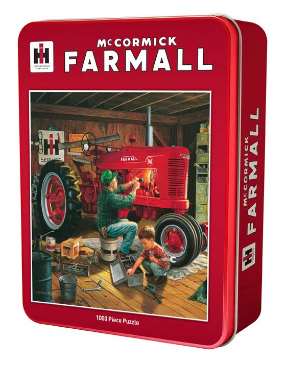Forever Red Farm Jigsaw Puzzle
