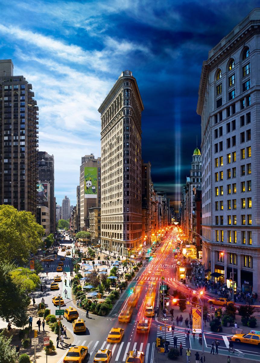 Flatiron, NYC, Day to Night™ New York Jigsaw Puzzle