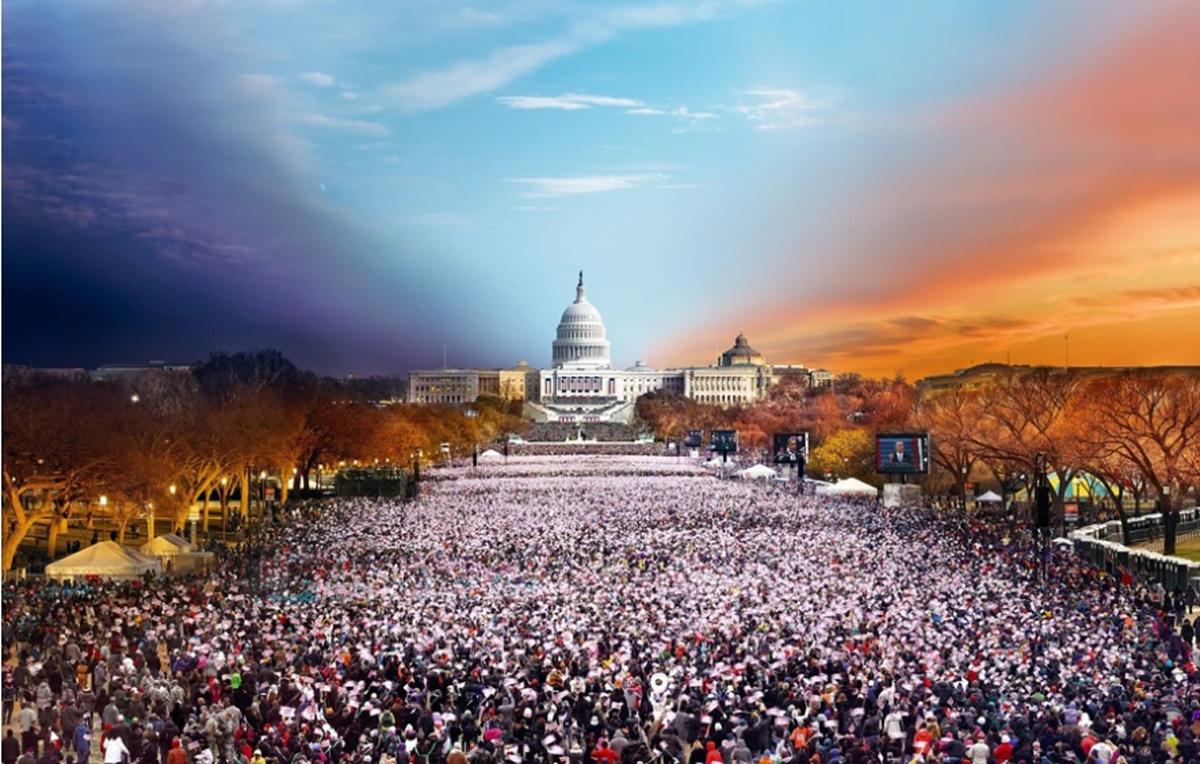 Inauguration, Washington DC, Day to Night™ United States Jigsaw Puzzle