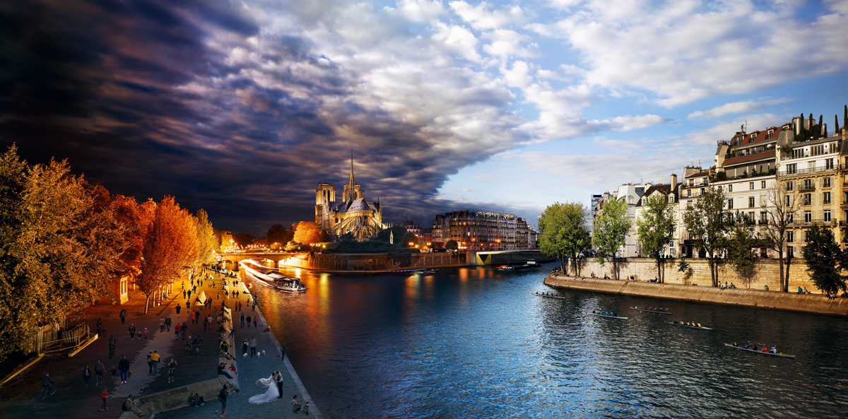 Eiffel Tower, Paris, Day to Night™ Paris Jigsaw Puzzle
