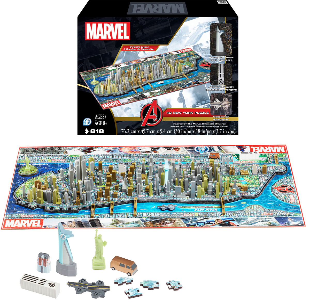 4D Puzzle:  Marvel New York Puzzle New York 4D Puzzle