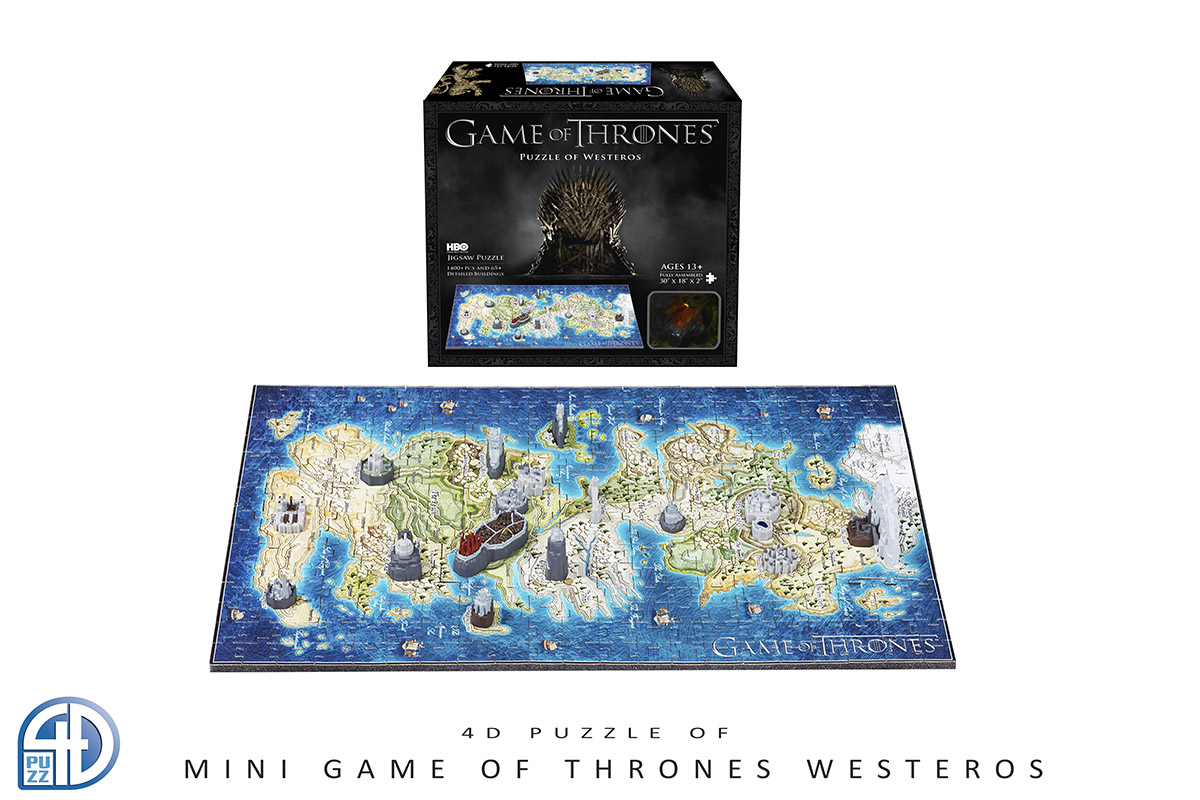 4D Mini Game Of Thrones: Westeros (Mini) Maps / Geography Jigsaw Puzzle